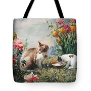 What A Girl Kitten Wants Tote Bag by Svitozar Nenyuk