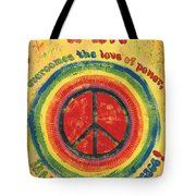 When The Power Of Love Tote Bag by Debbie DeWitt