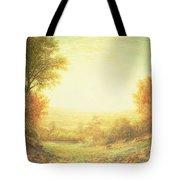 When The Sun In Splendor Fades Tote Bag by John MacWhirter