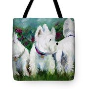 Which Way Did It Go Tote Bag by Mary Sparrow