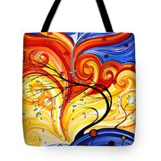Whirlwind By Madart Tote Bag by Megan Duncanson