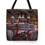 Whiskey And Guns Tote Bag by Leland D Howard