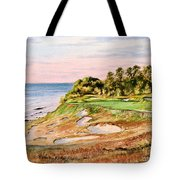 Whistling Straits Golf Course 17th Hole Tote Bag by Bill Holkham