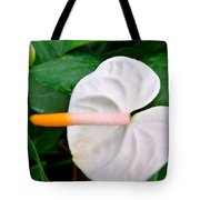 White Flamingo Flower Tote Bag by Lanjee Chee