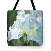 White Iris Tote Bag by Sharon Freeman