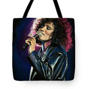 Whitney Houston Tote Bag by Tom Carlton