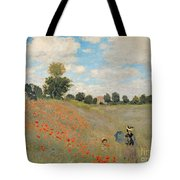 Wild Poppies Near Argenteuil Tote Bag by Claude Monet