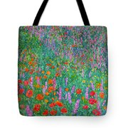 Wildflower Current Tote Bag by Kendall Kessler
