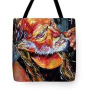 Willie Nelson Booger Red Tote Bag by Debra Hurd