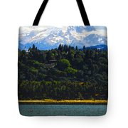 Wind Surfing Mt. Hood Tote Bag by David Lee Thompson