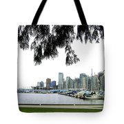 Window To The Harbor Tote Bag by Will Borden