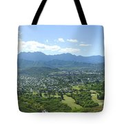 Windward Oahu Panorama I Tote Bag by David Cornwell/First Light Pictures, Inc - Printscapes