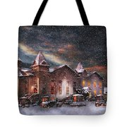 Winter - Clinton Nj - Silent Night  Tote Bag by Mike Savad