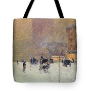 Winter Afternoon In New York Tote Bag by Childe Hassam