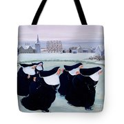 Winter At The Convent Tote Bag by Margaret Loxton