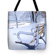 Winter Bench Tote Bag by Elena Elisseeva