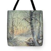 Winter Breakfast Tote Bag by Joseph Farquharson