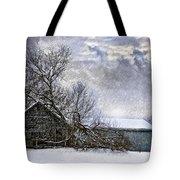 Winter Farm Tote Bag by Steve Harrington