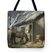 Winter Farmyard Tote Bag by George Morland