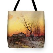 Winter Landscape Tote Bag by Julius Sergius Klever