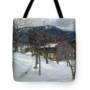 Winter Landscape Near Kutterling Tote Bag by Johann Sperl