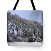 Winter Morning On The Farm Tote Bag by Sophie De Roumanie