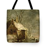 Winter Scene Tote Bag by Jan Beerstraten
