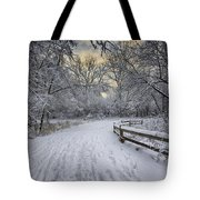 Winter Sunrise Tote Bag by Sebastian Musial