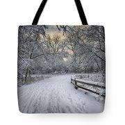 Winter Sunrise Tote Bag by Sebastian Musial