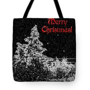 Winter's Night- Vertical Tote Bag by Methune Hively
