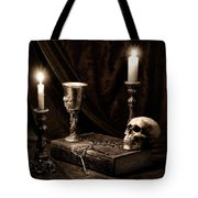 Wisdom Of The Ages Still Life Tote Bag by Tom Mc Nemar