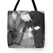 Wolfgang Pauli And Niels Bohr Tote Bag by Margrethe Bohr Collection and AIP and Photo Researchers