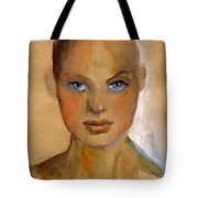 Woman Portrait Sketch Tote Bag by Svetlana Novikova