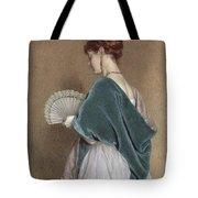 Woman With A Fan Tote Bag by John Dawson Watson