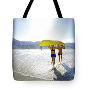 Women Kayakers Tote Bag by Kicka Witte - Printscapes