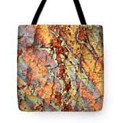 Wood And Rust Tote Bag by Carol Groenen
