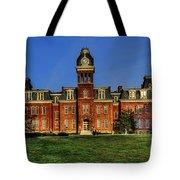 Woodburn Hall In Morning Tote Bag by Dan Friend