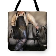 Woodworker - The Chair Maker  Tote Bag by Mike Savad