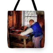 Woodworker - The master carpenter Tote Bag by Mike Savad