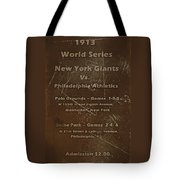 World Series 1913 Tote Bag by David Dehner