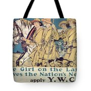 World War I YWCA poster  Tote Bag by Edward Penfield