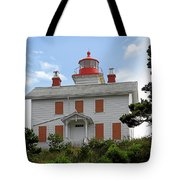 Yaquina Lighthouses - Yaquina Bay Lighthouse Oregon Tote Bag by Christine Till