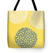 Yellow And Gray Garden Bloom Tote Bag by Linda Woods