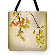 Yellow Berries Tote Bag by Judi Bagwell