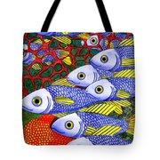 Yellow Fins Tote Bag by Catherine G McElroy