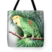 Yellow-headed Amazon Parrot Tote Bag by Arline Wagner