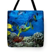 Yellow Scuba Diver Tote Bag by Ed Robinson - Printscapes
