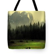 Yosemite Village Golden Tote Bag by Wingsdomain Art and Photography