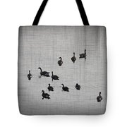 You Better Get Your Ducks in a Row Tote Bag by Bill Cannon