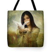 You Bird Of Freedom And Peace Tote Bag by Gun Legler